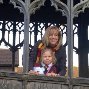 Kate and Abigail enjoying the Harry Potter Studio Tour - 2016